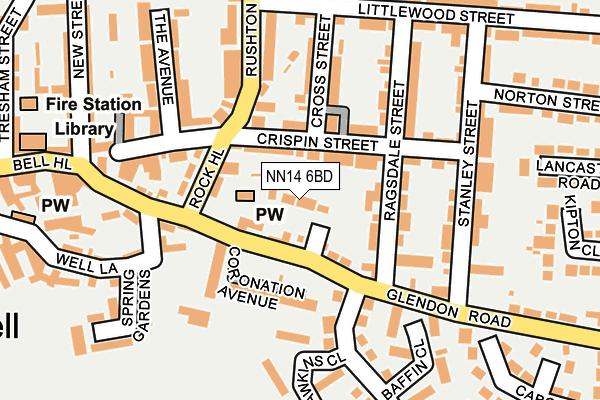 NN14 6BD map - OS OpenMap – Local (Ordnance Survey)