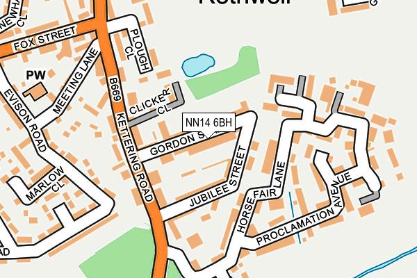NN14 6BH map - OS OpenMap – Local (Ordnance Survey)