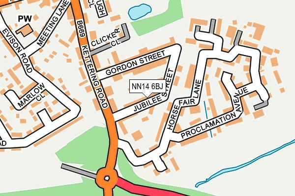 NN14 6BJ map - OS OpenMap – Local (Ordnance Survey)