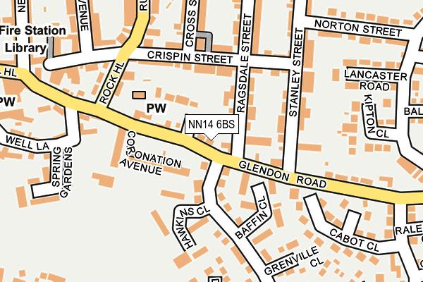NN14 6BS map - OS OpenMap – Local (Ordnance Survey)