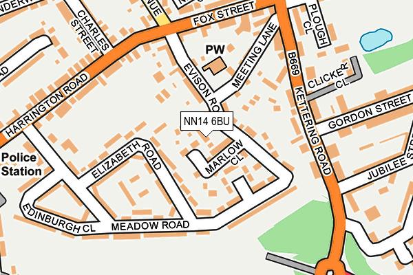 NN14 6BU map - OS OpenMap – Local (Ordnance Survey)