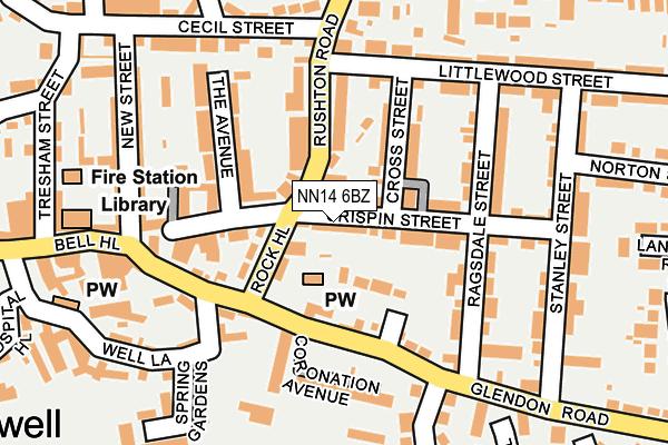 NN14 6BZ map - OS OpenMap – Local (Ordnance Survey)