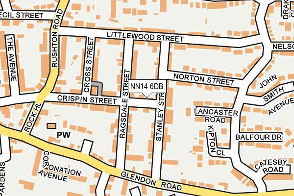 NN14 6DB map - OS OpenMap – Local (Ordnance Survey)