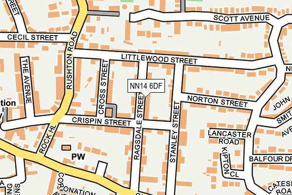 NN14 6DF map - OS OpenMap – Local (Ordnance Survey)