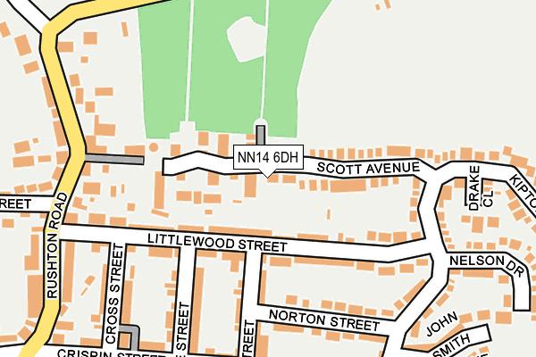 NN14 6DH map - OS OpenMap – Local (Ordnance Survey)