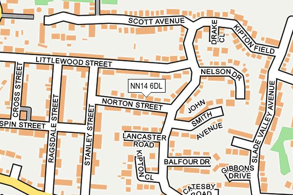 NN14 6DL map - OS OpenMap – Local (Ordnance Survey)