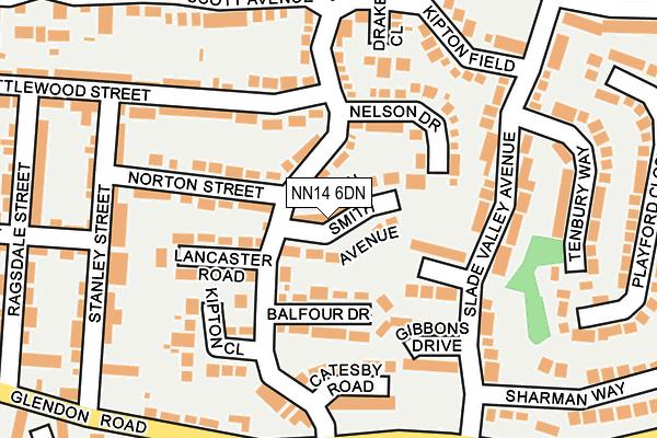 NN14 6DN map - OS OpenMap – Local (Ordnance Survey)