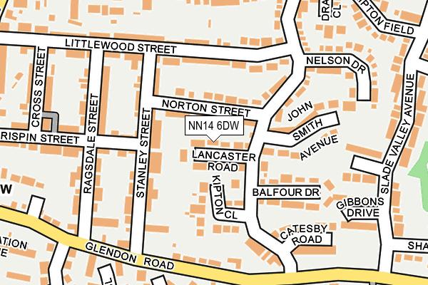 NN14 6DW map - OS OpenMap – Local (Ordnance Survey)