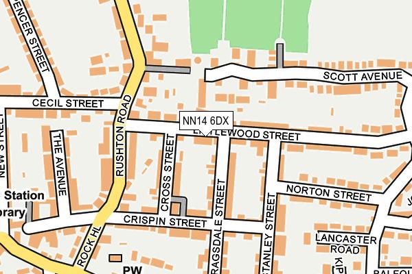 NN14 6DX map - OS OpenMap – Local (Ordnance Survey)