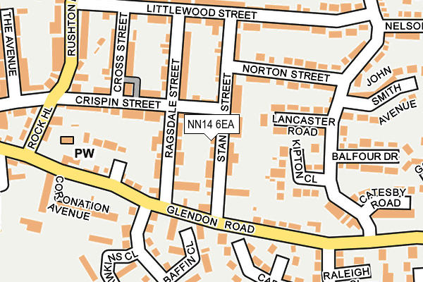 NN14 6EA map - OS OpenMap – Local (Ordnance Survey)