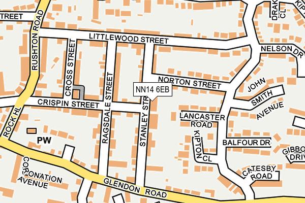 NN14 6EB map - OS OpenMap – Local (Ordnance Survey)