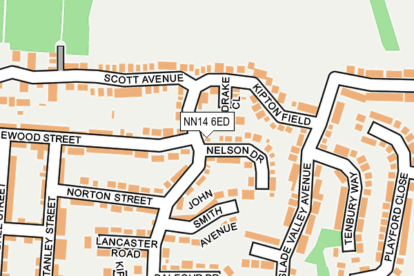 NN14 6ED map - OS OpenMap – Local (Ordnance Survey)