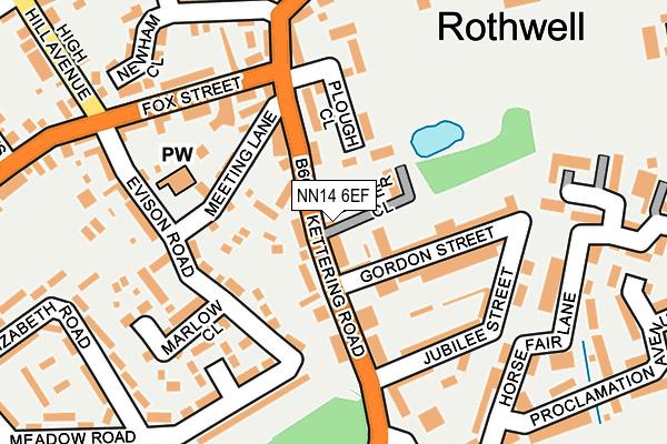 NN14 6EF map - OS OpenMap – Local (Ordnance Survey)