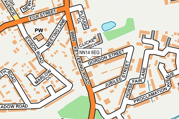 NN14 6EG map - OS OpenMap – Local (Ordnance Survey)