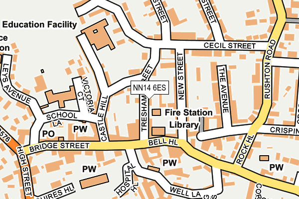 NN14 6ES map - OS OpenMap – Local (Ordnance Survey)