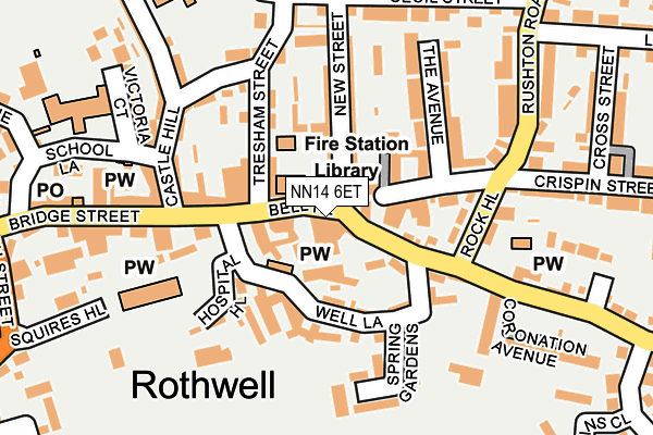 NN14 6ET map - OS OpenMap – Local (Ordnance Survey)