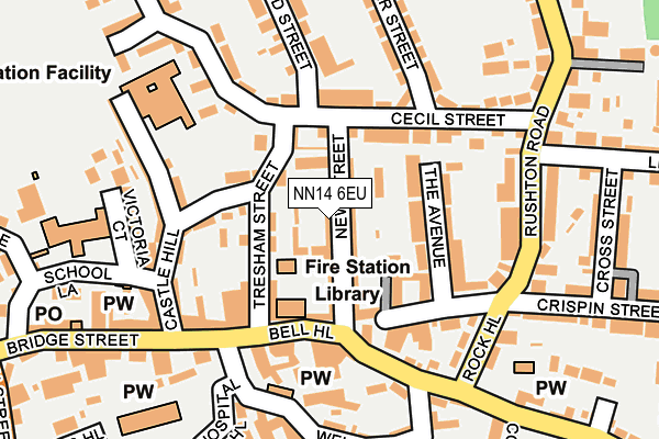 NN14 6EU map - OS OpenMap – Local (Ordnance Survey)
