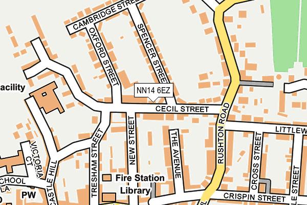 NN14 6EZ map - OS OpenMap – Local (Ordnance Survey)