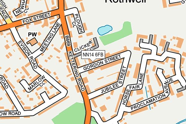 NN14 6FB map - OS OpenMap – Local (Ordnance Survey)
