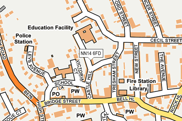 NN14 6FD map - OS OpenMap – Local (Ordnance Survey)