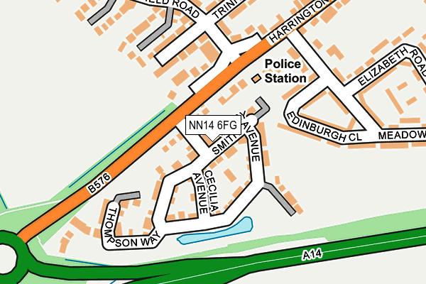 NN14 6FG map - OS OpenMap – Local (Ordnance Survey)
