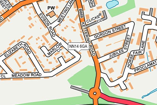 NN14 6GA map - OS OpenMap – Local (Ordnance Survey)