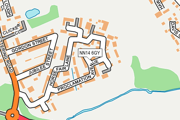 NN14 6GY map - OS OpenMap – Local (Ordnance Survey)
