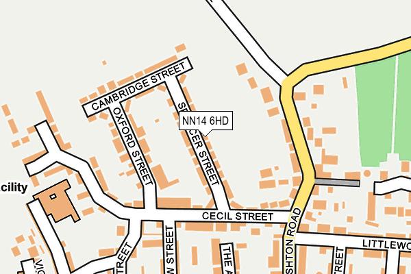 NN14 6HD map - OS OpenMap – Local (Ordnance Survey)