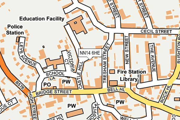 NN14 6HE map - OS OpenMap – Local (Ordnance Survey)