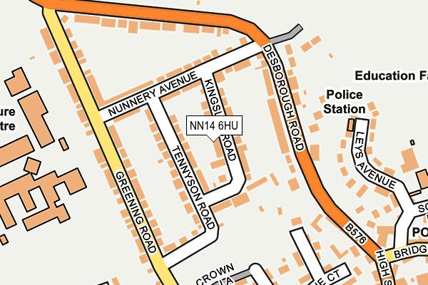 NN14 6HU map - OS OpenMap – Local (Ordnance Survey)
