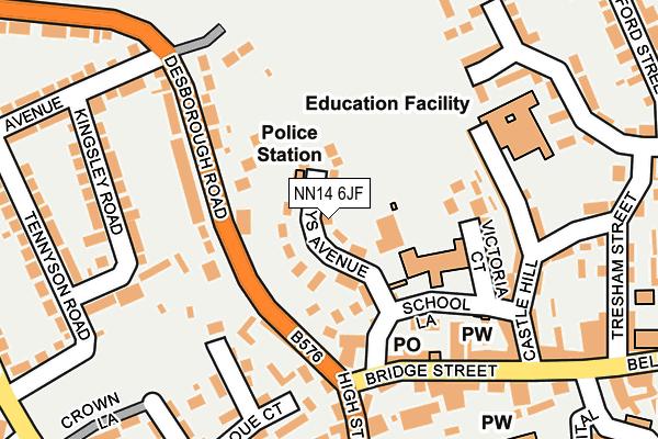 NN14 6JF map - OS OpenMap – Local (Ordnance Survey)