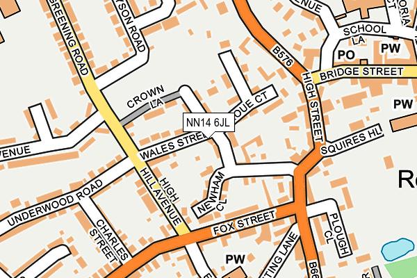 NN14 6JL map - OS OpenMap – Local (Ordnance Survey)