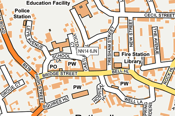 NN14 6JN map - OS OpenMap – Local (Ordnance Survey)