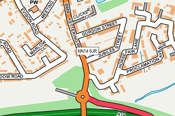 NN14 6JR map - OS OpenMap – Local (Ordnance Survey)