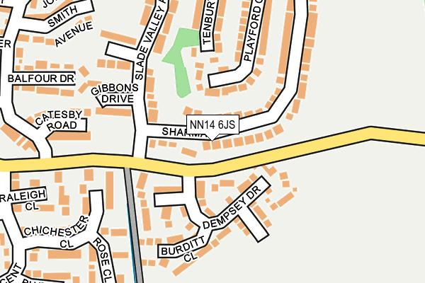 NN14 6JS map - OS OpenMap – Local (Ordnance Survey)