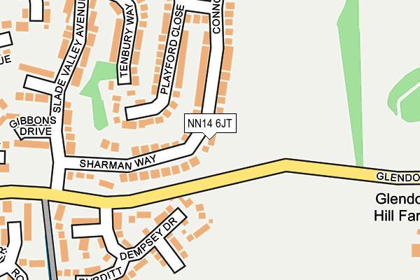 NN14 6JT map - OS OpenMap – Local (Ordnance Survey)