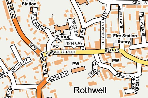NN14 6JW map - OS OpenMap – Local (Ordnance Survey)