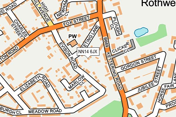 NN14 6JX map - OS OpenMap – Local (Ordnance Survey)