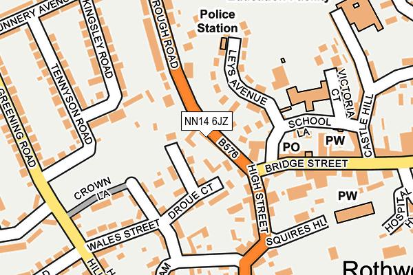 NN14 6JZ map - OS OpenMap – Local (Ordnance Survey)