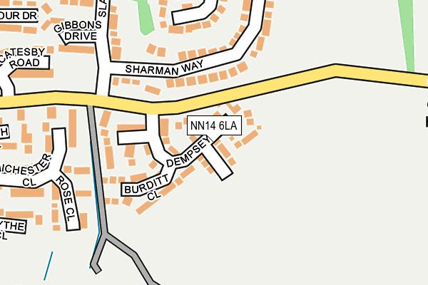NN14 6LA map - OS OpenMap – Local (Ordnance Survey)