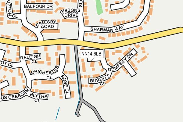 NN14 6LB map - OS OpenMap – Local (Ordnance Survey)