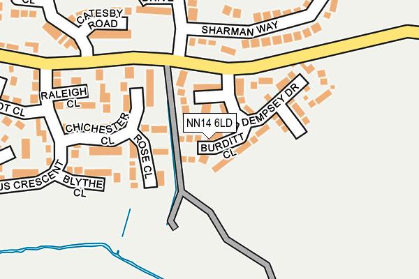 NN14 6LD map - OS OpenMap – Local (Ordnance Survey)