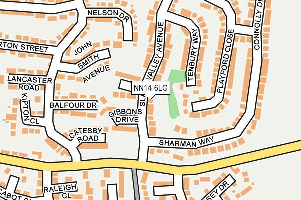 NN14 6LG map - OS OpenMap – Local (Ordnance Survey)