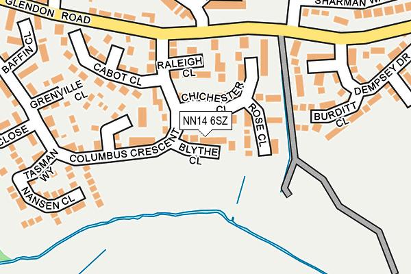 NN14 6SZ map - OS OpenMap – Local (Ordnance Survey)
