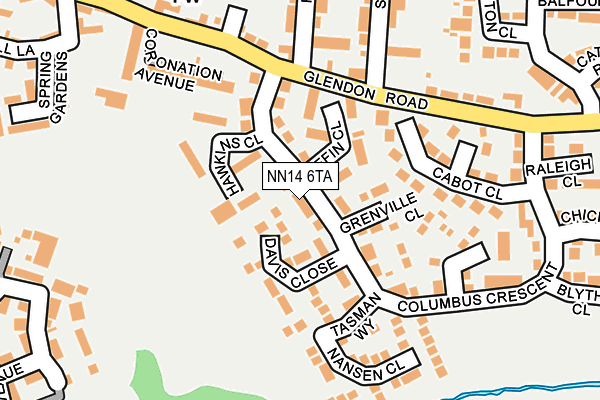 NN14 6TA map - OS OpenMap – Local (Ordnance Survey)