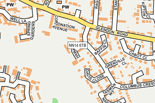 NN14 6TB map - OS OpenMap – Local (Ordnance Survey)