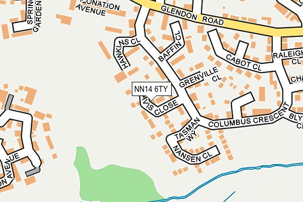 NN14 6TY map - OS OpenMap – Local (Ordnance Survey)