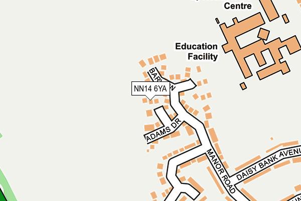 NN14 6YA map - OS OpenMap – Local (Ordnance Survey)