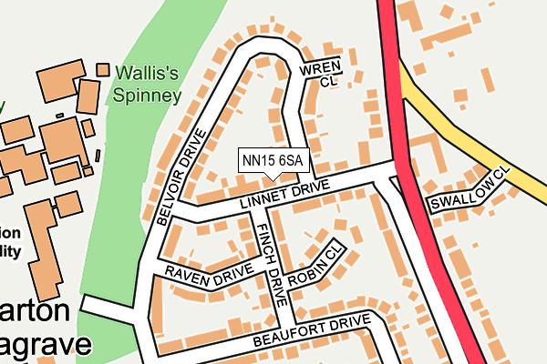 NN15 6SA map - OS OpenMap – Local (Ordnance Survey)