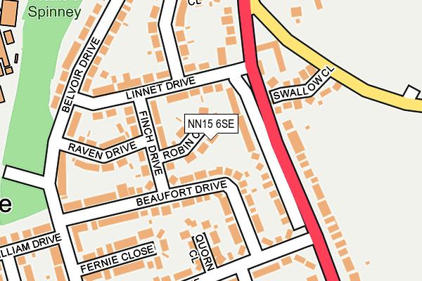 NN15 6SE map - OS OpenMap – Local (Ordnance Survey)